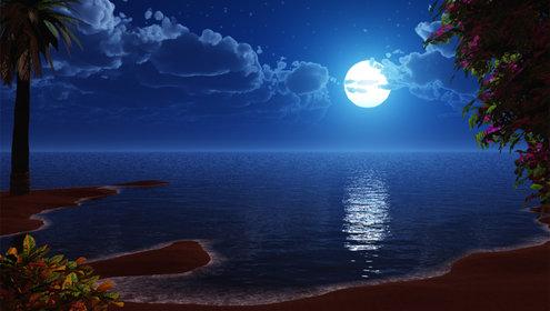 Tarde beijada pela noite no por da lua